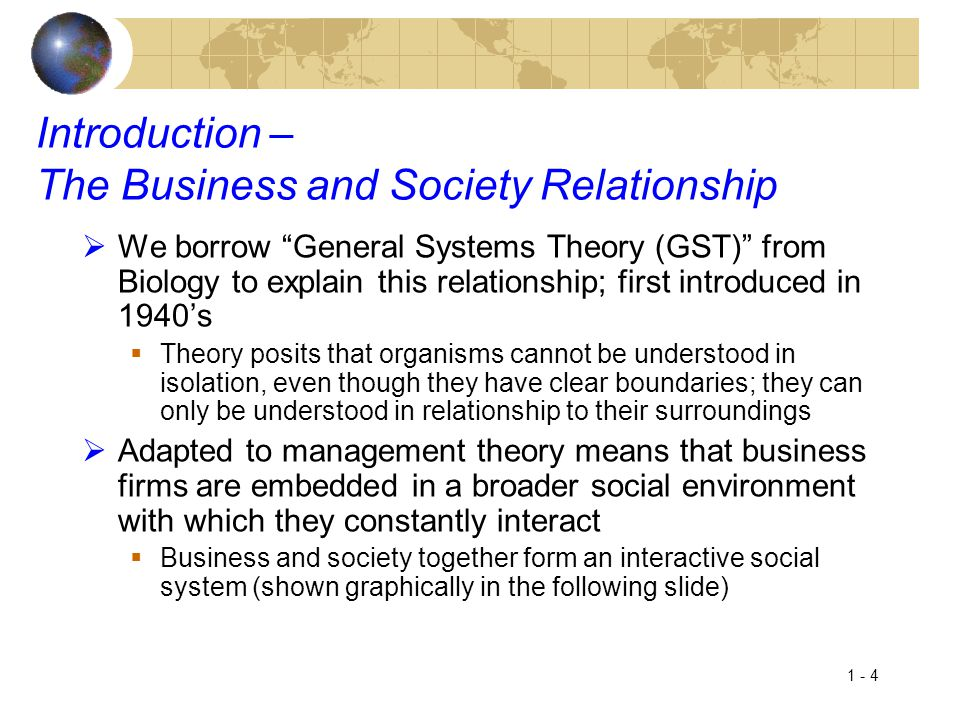 Introduction – The Business and Society Relationship