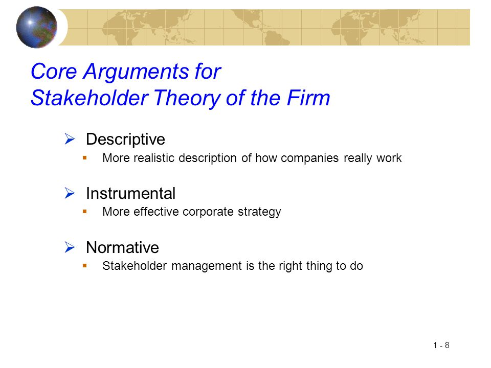 Core Arguments for Stakeholder Theory of the Firm