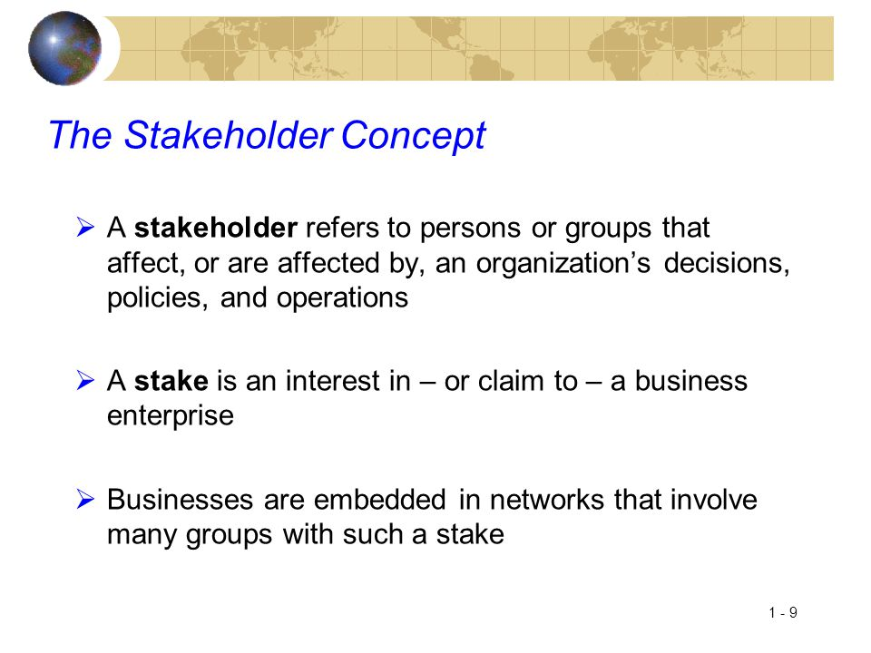 The Stakeholder Concept