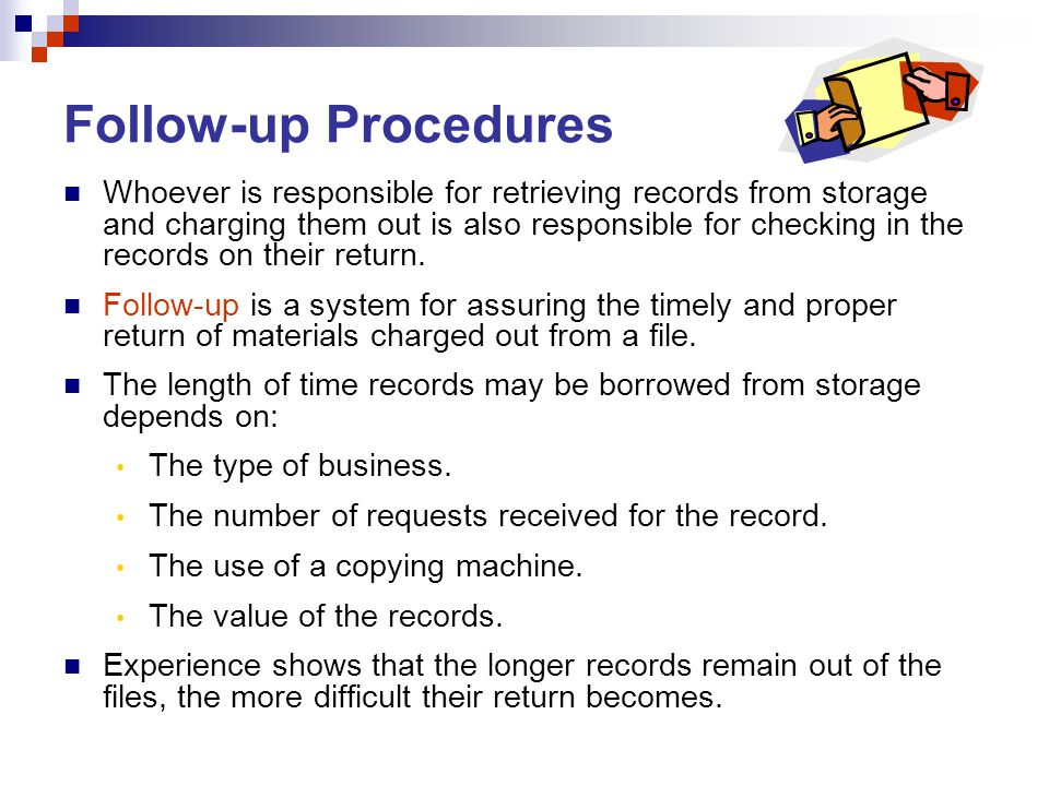 Follow-up Procedures