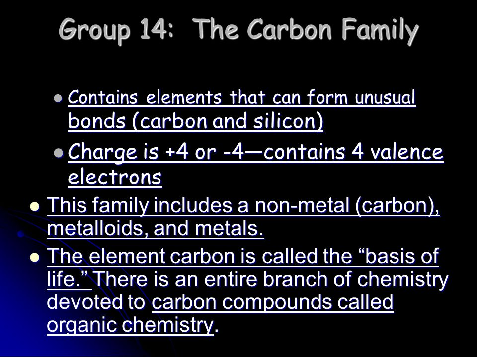 Group 14: The Carbon Family