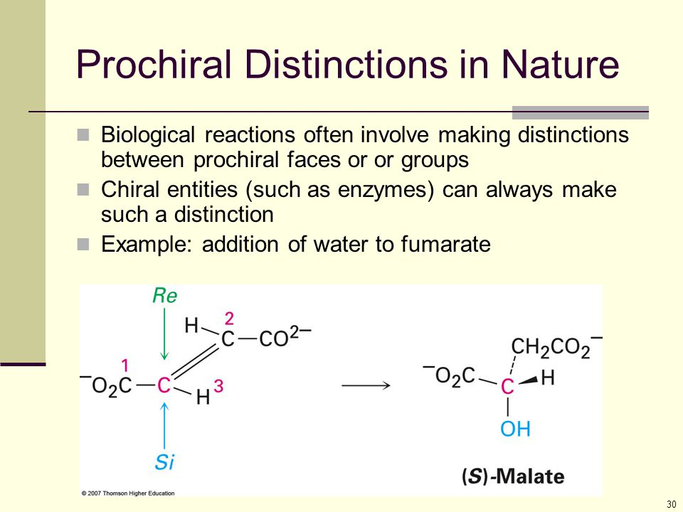 Prochiral Distinctions in Nature