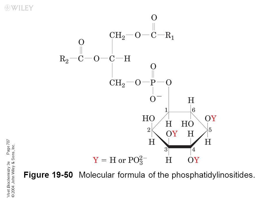Figure 19-50 Molecular formula of the phosphatidylinositides.