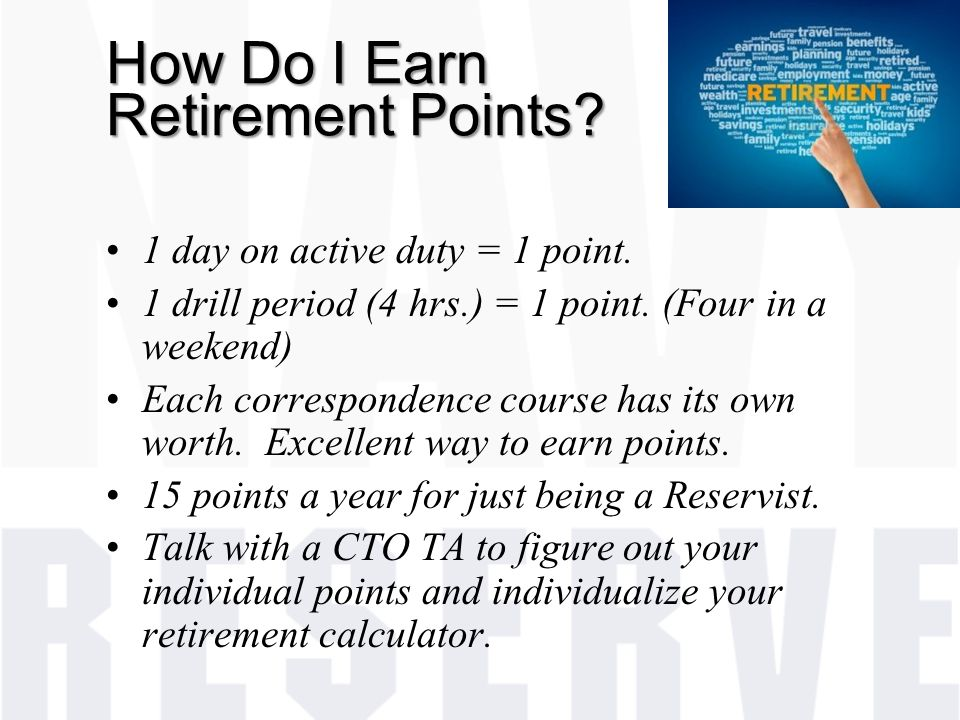 How Do I Earn Retirement Points