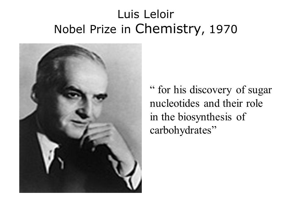Nobel Prize in Chemistry, 1970