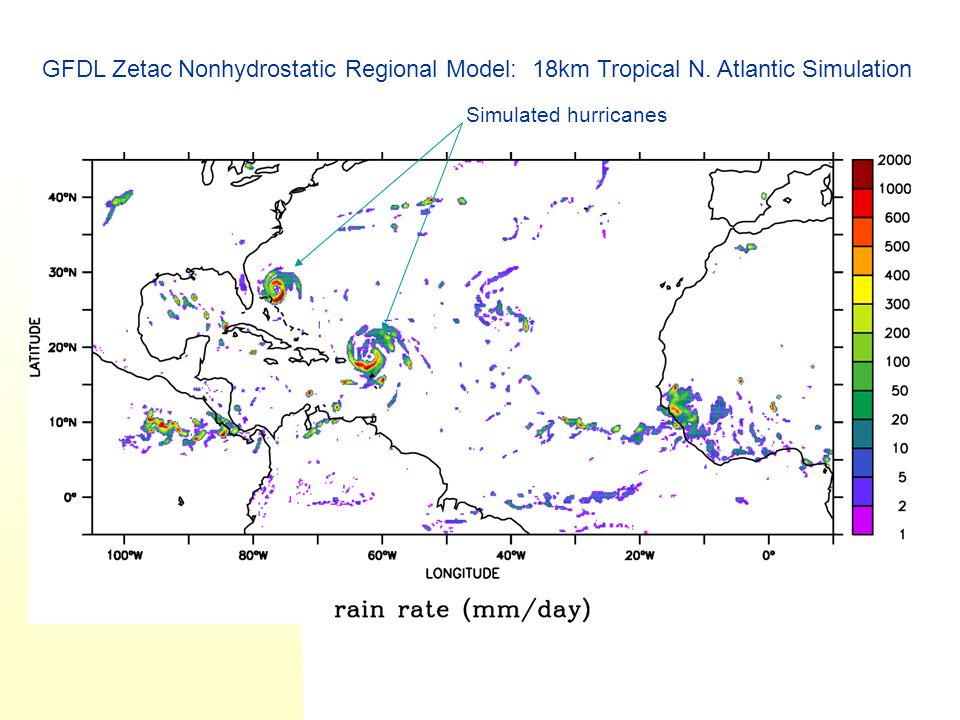 GFDL Zetac Nonhydrostatic Regional Model: 18km Tropical N