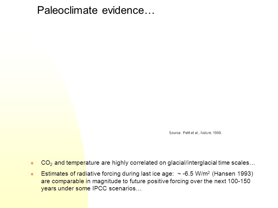 Paleoclimate evidence…