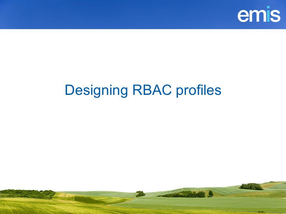 Designing RBAC profiles