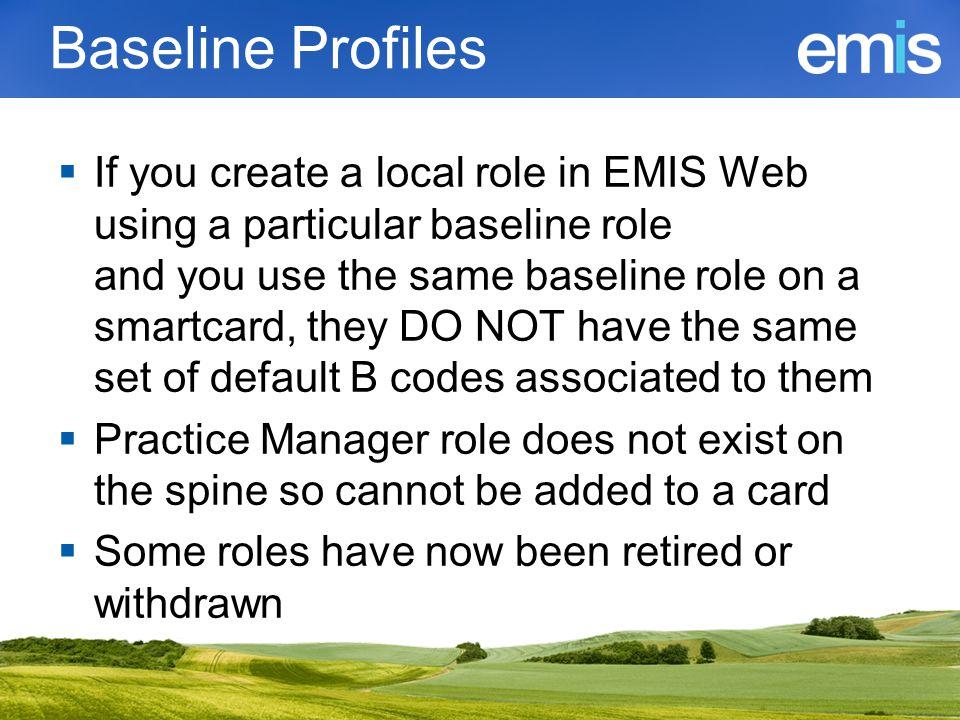 Baseline Profiles