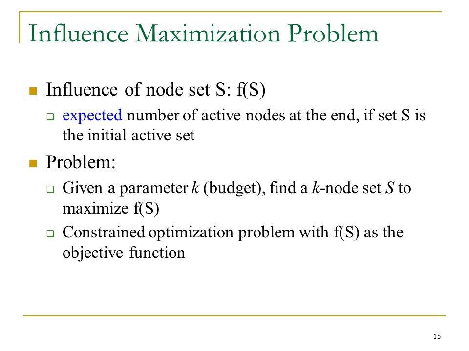 Influence Maximization Problem