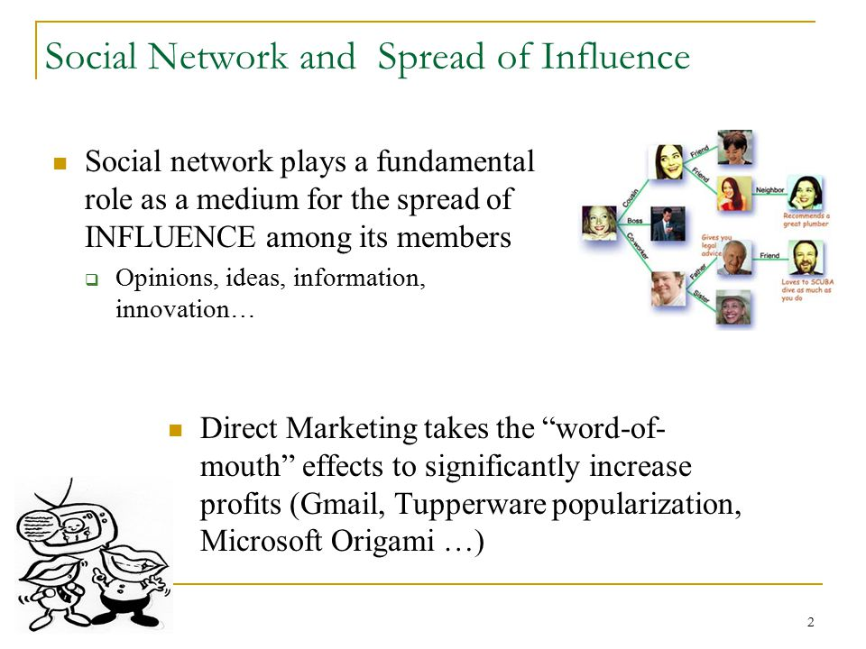 Social Network and Spread of Influence