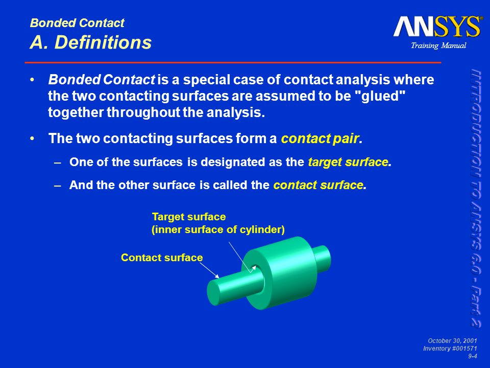 Bonded Contact A. Definitions