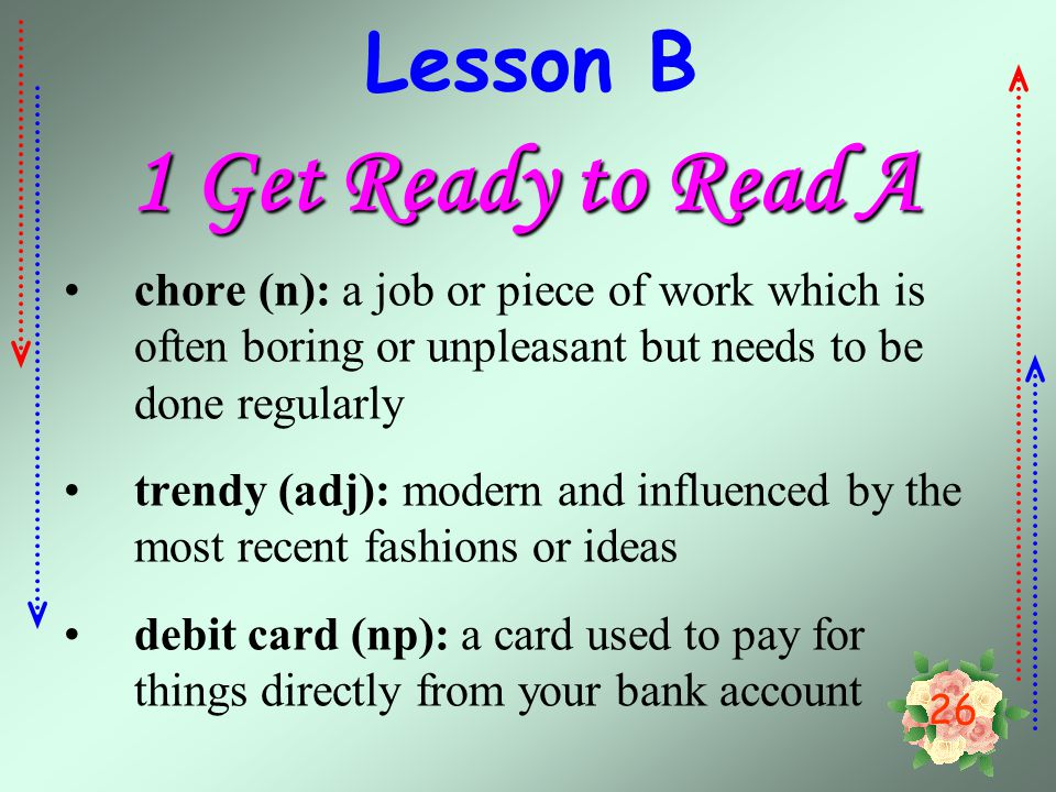 1 Get Ready to Read A Lesson B