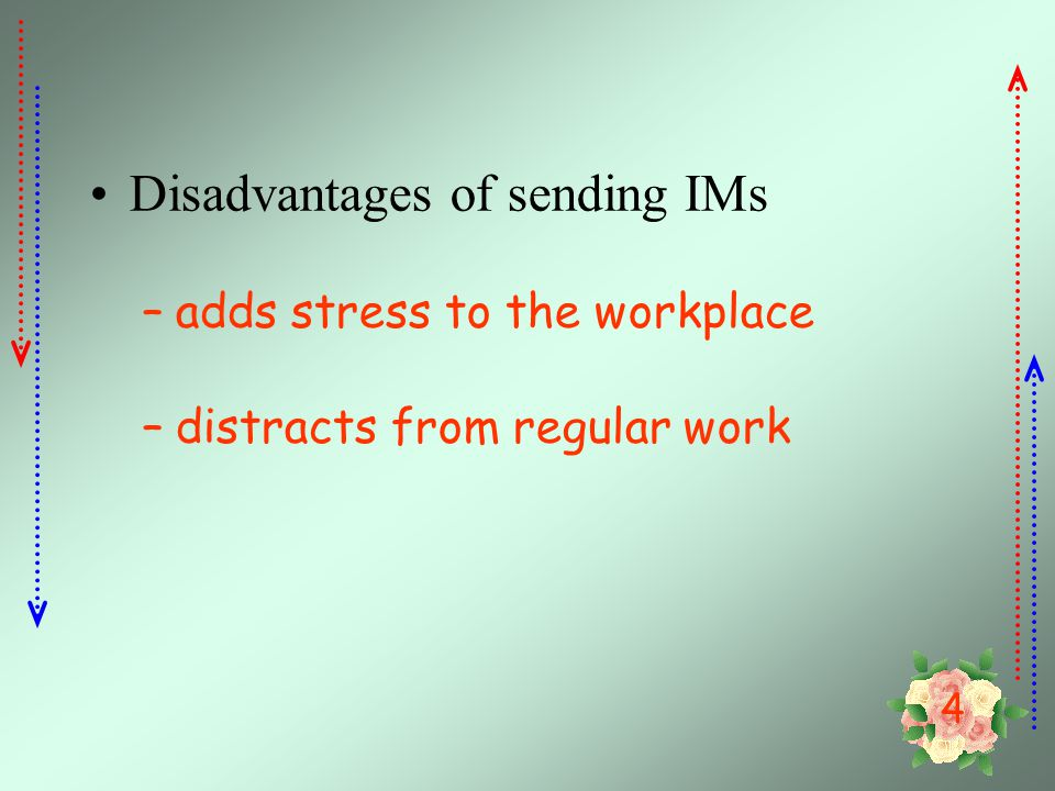 Disadvantages of sending IMs