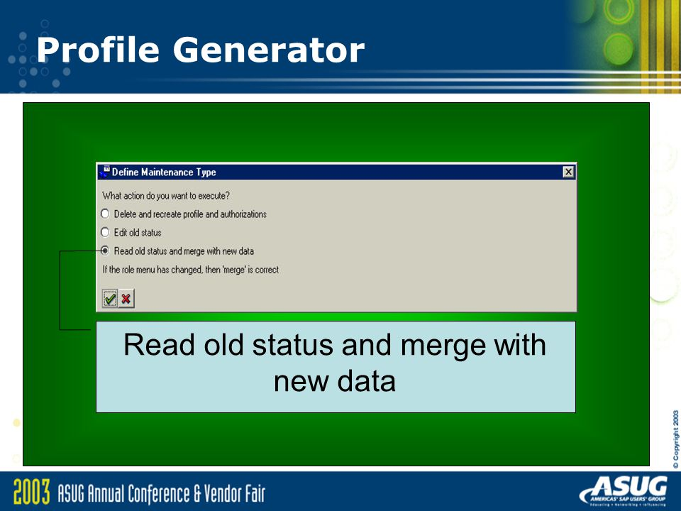 Read old status and merge with new data