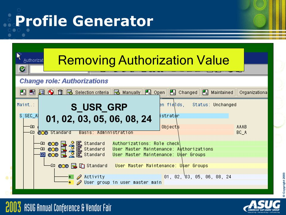 Removing Authorization Value