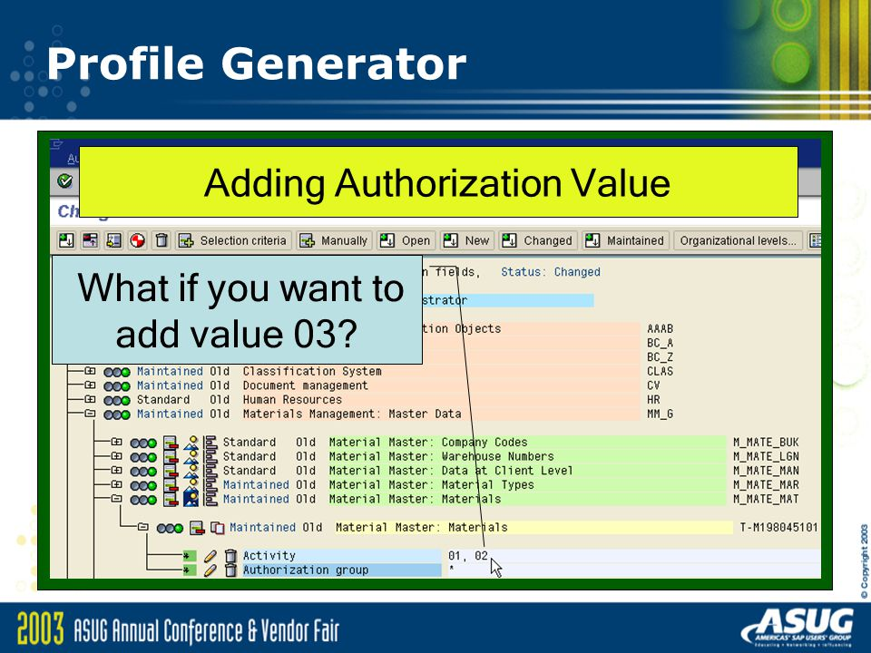 Profile Generator Adding Authorization Value