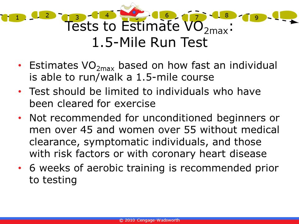 Tests to Estimate VO2max: 1.5-Mile Run Test