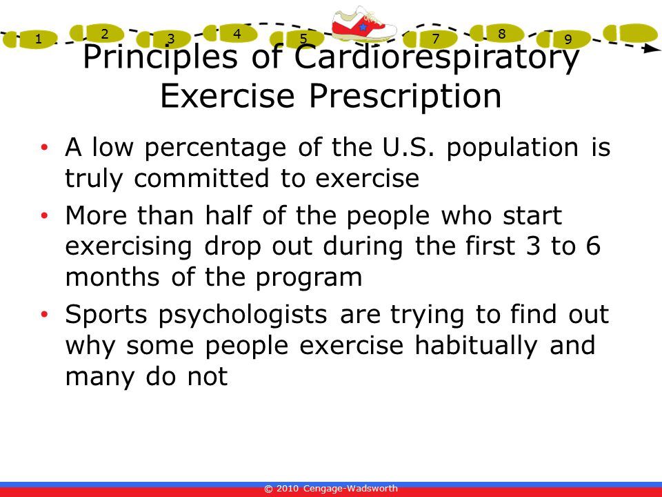 Principles of Cardiorespiratory Exercise Prescription