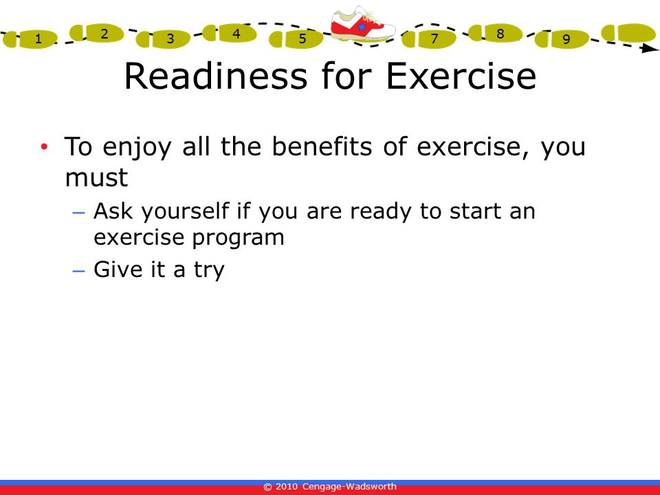 Readiness for Exercise