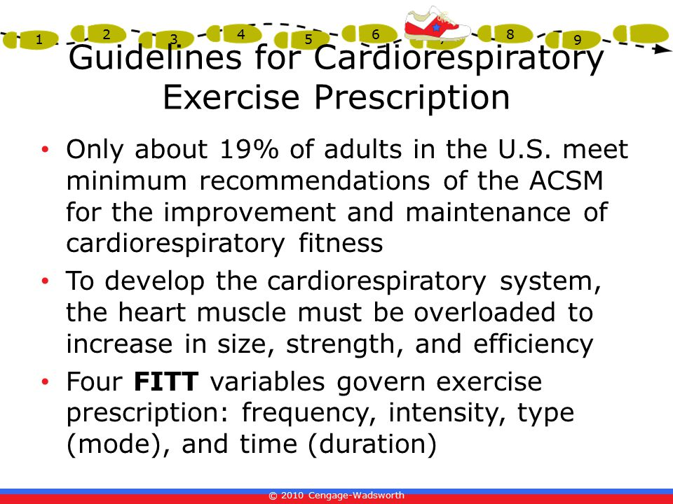 Guidelines for Cardiorespiratory Exercise Prescription