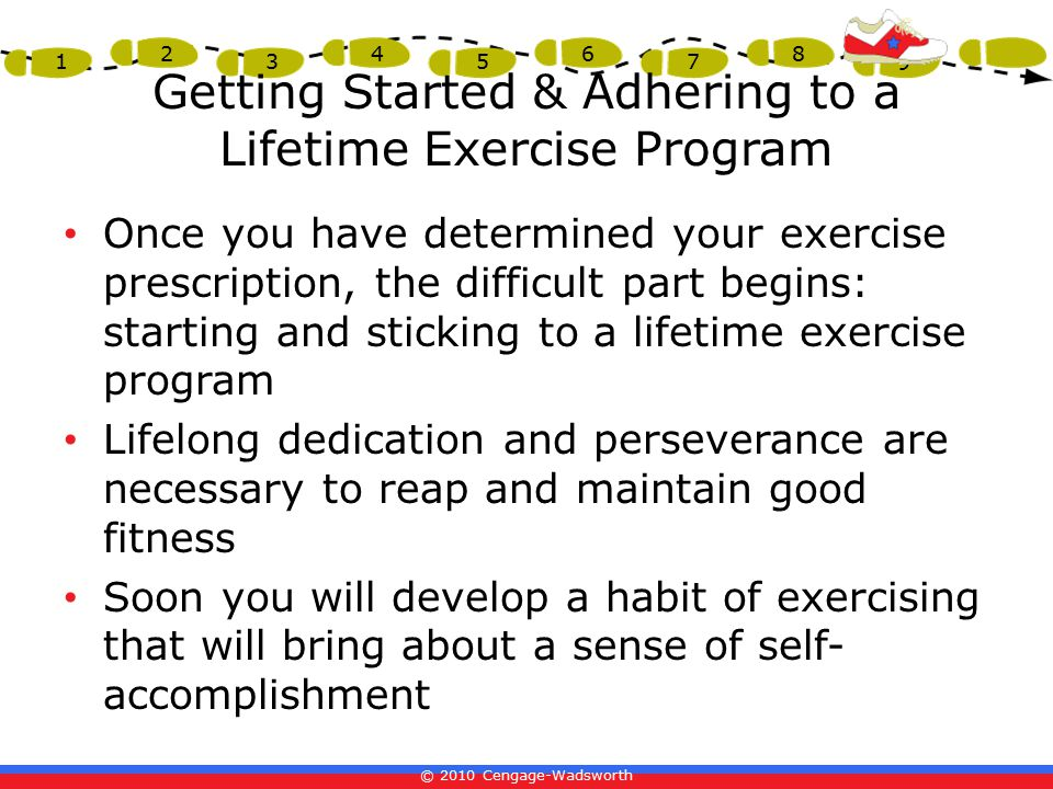 Getting Started & Adhering to a Lifetime Exercise Program
