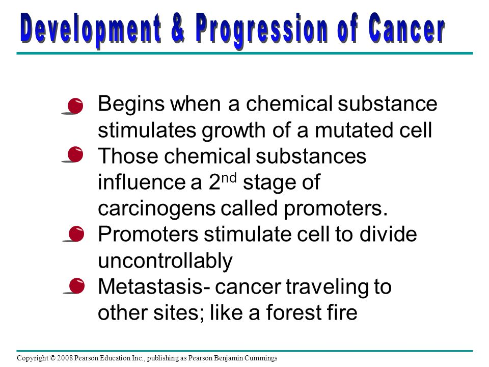 Development & Progression of Cancer