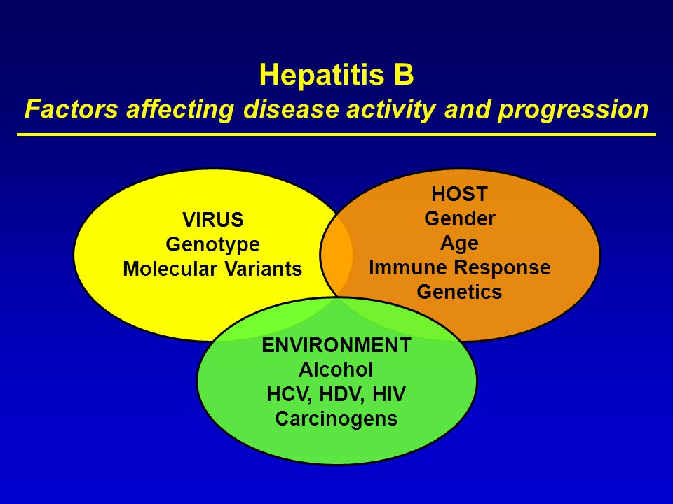 Hepatitis B Factors affecting disease activity and progression