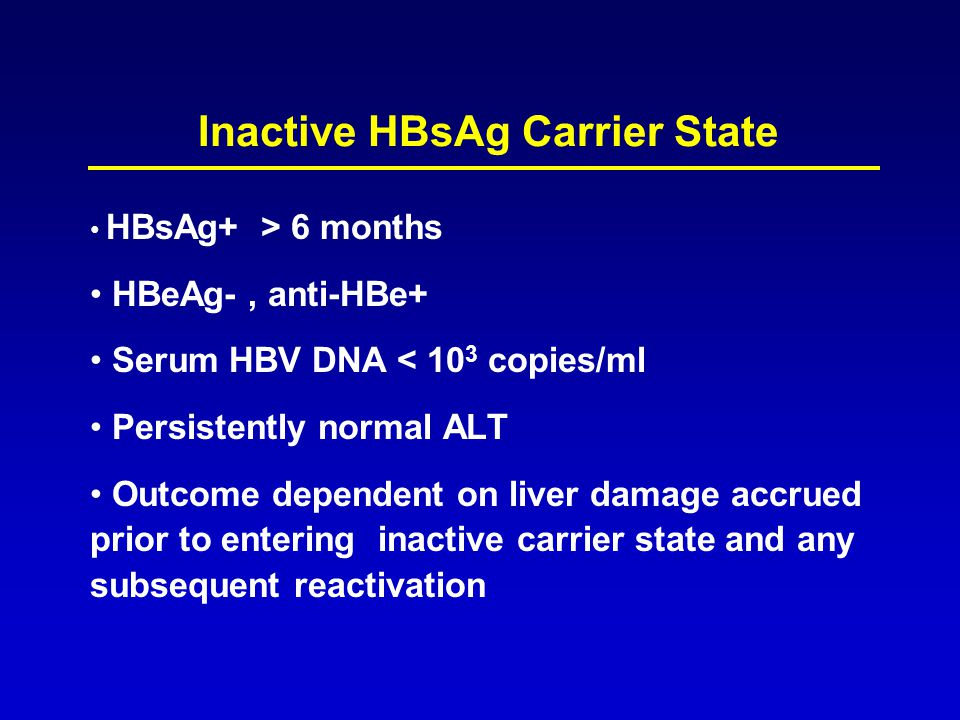 Inactive HBsAg Carrier State