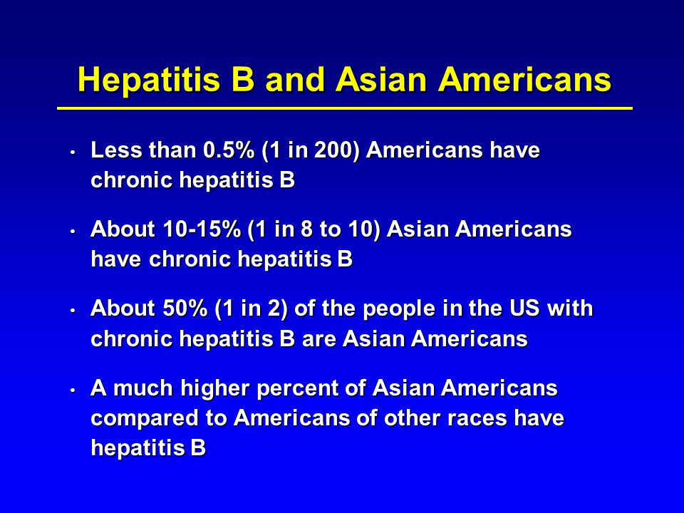 Hepatitis B and Asian Americans