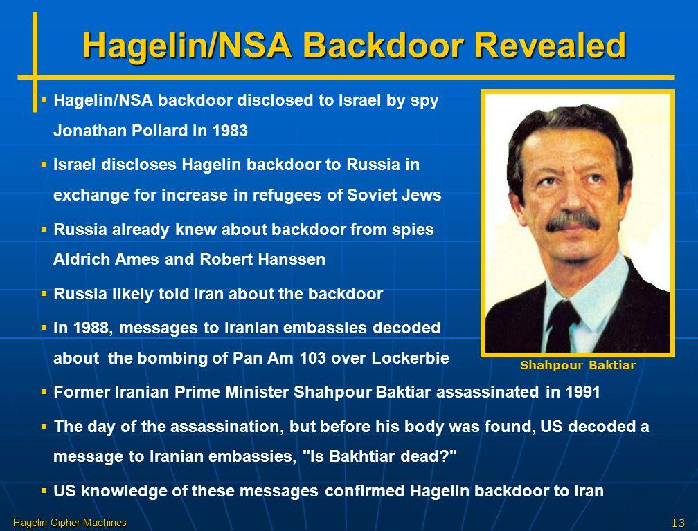Hagelin/NSA Backdoor Revealed