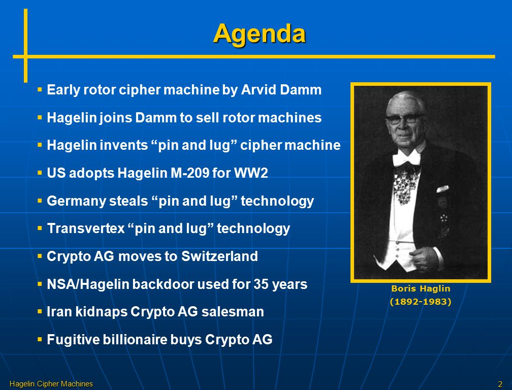 Agenda Early rotor cipher machine by Arvid Damm