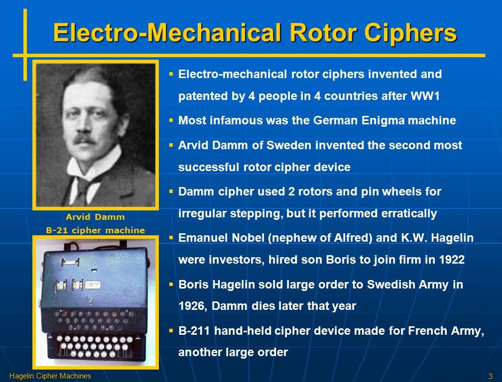 Electro-Mechanical Rotor Ciphers