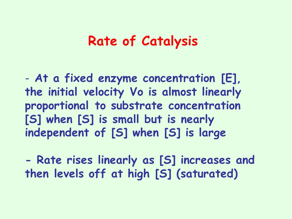 Rate of Catalysis