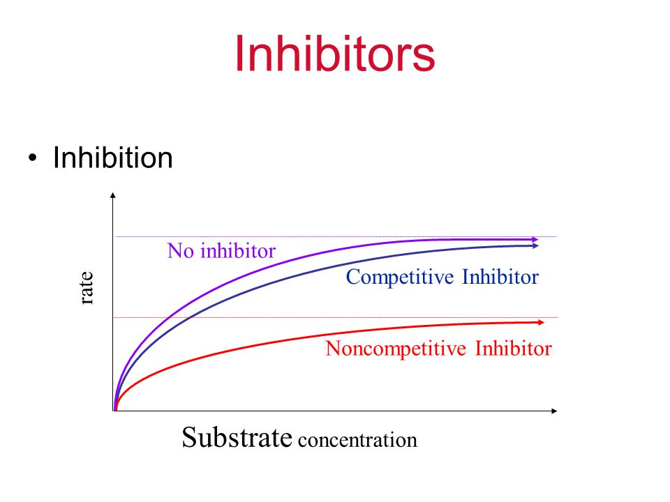 Inhibitors Inhibition Substrate concentration No inhibitor
