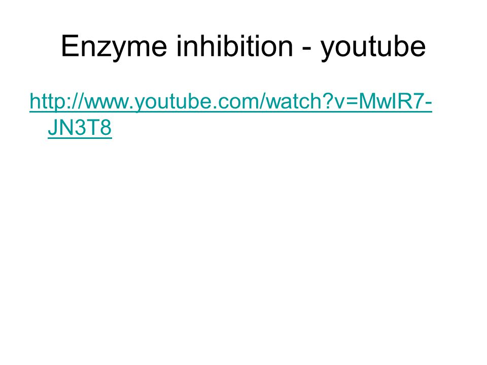 Enzyme inhibition - youtube