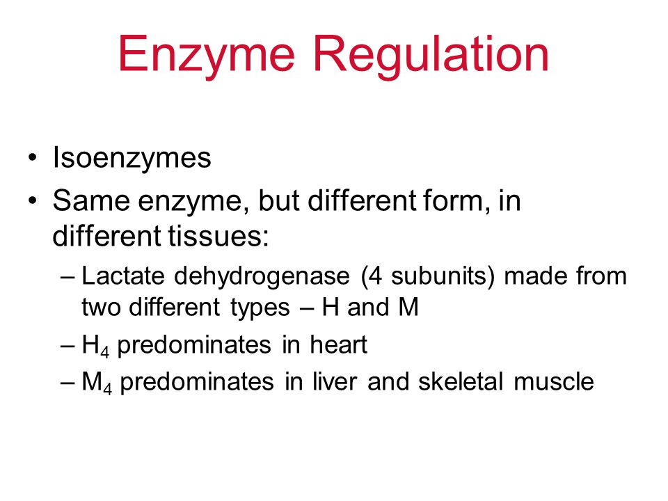 Enzyme Regulation Isoenzymes