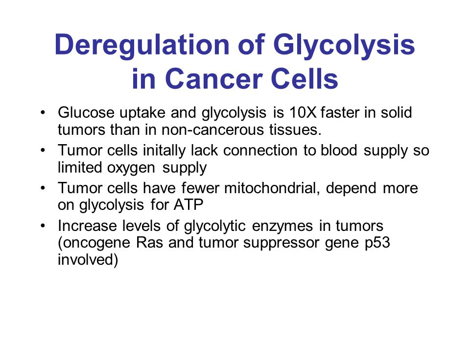 Deregulation of Glycolysis in Cancer Cells