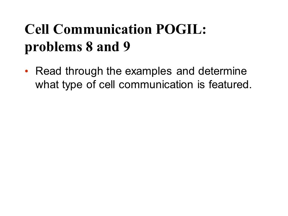 Cell Communication POGIL: problems 8 and 9