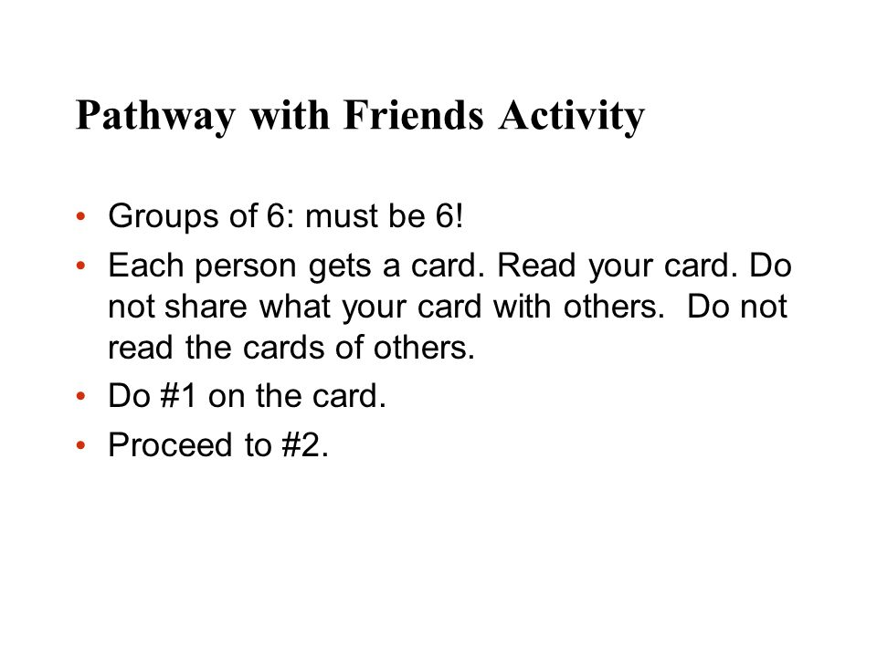 Pathway with Friends Activity