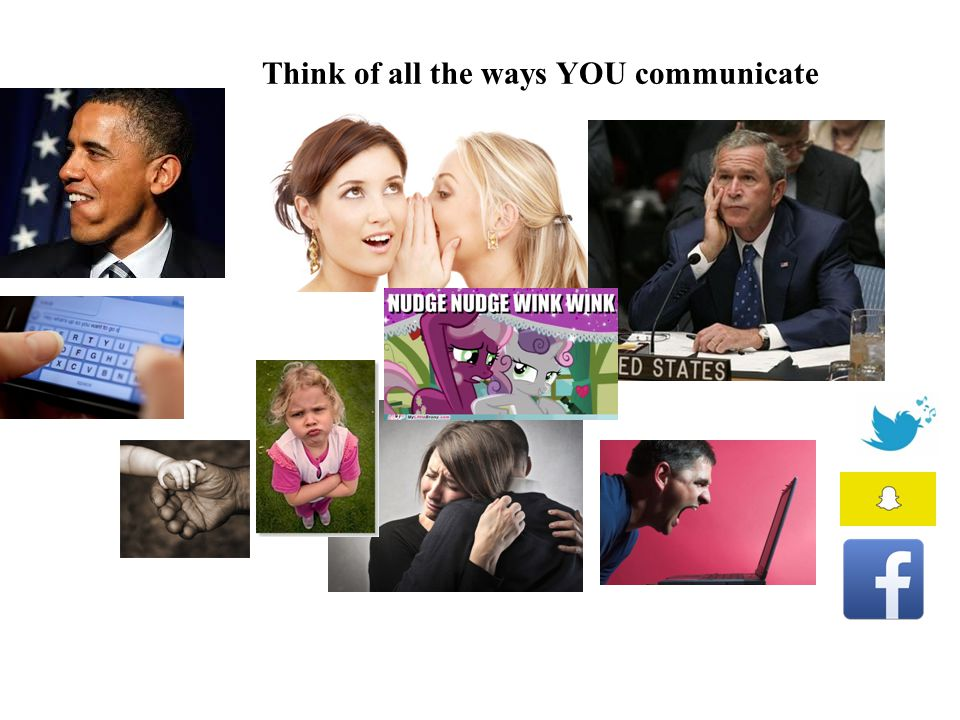 Think of all the ways YOU communicate