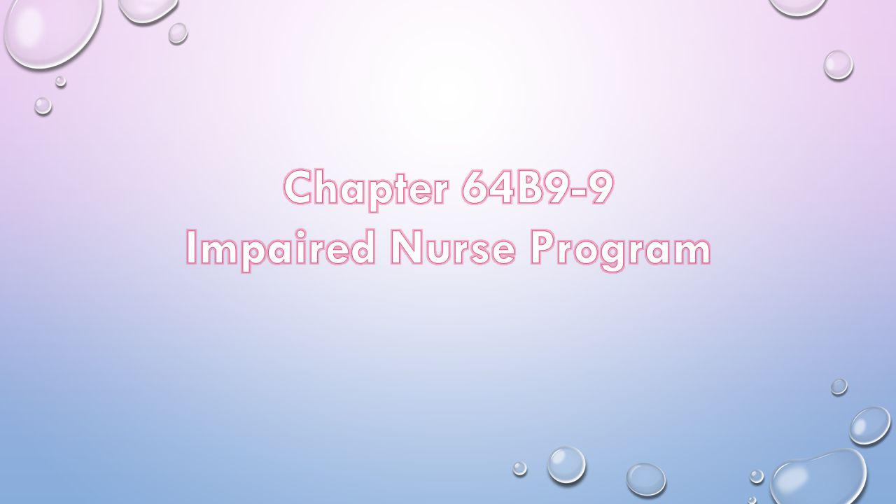 Impaired Nurse Program