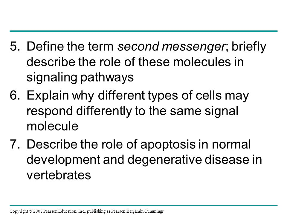 Define the term second messenger; briefly describe the role of these molecules in signaling pathways