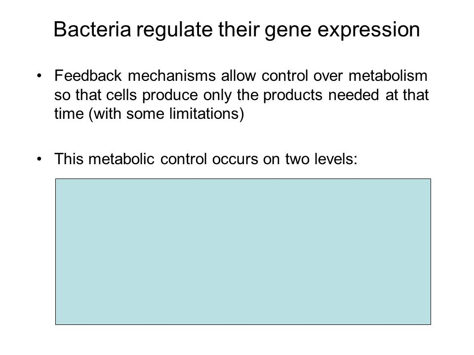 Bacteria regulate their gene expression