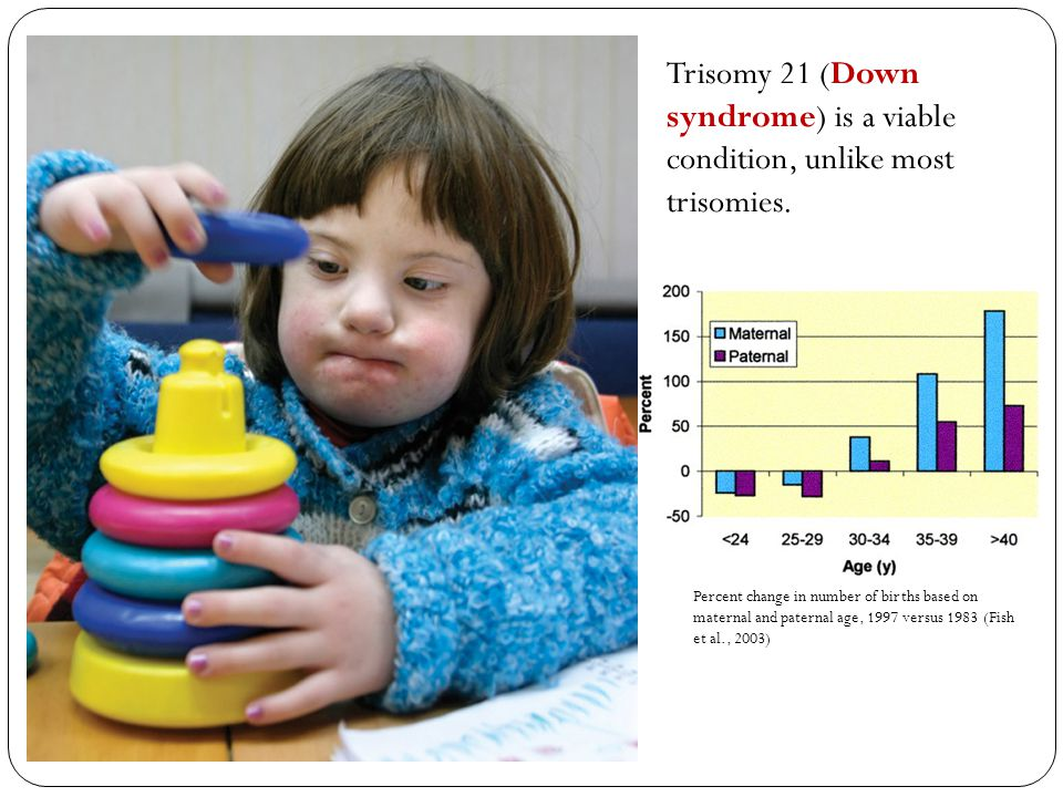 Trisomy 21 (Down syndrome) is a viable condition, unlike most trisomies.