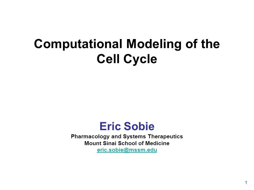 Computational Modeling of the Cell Cycle