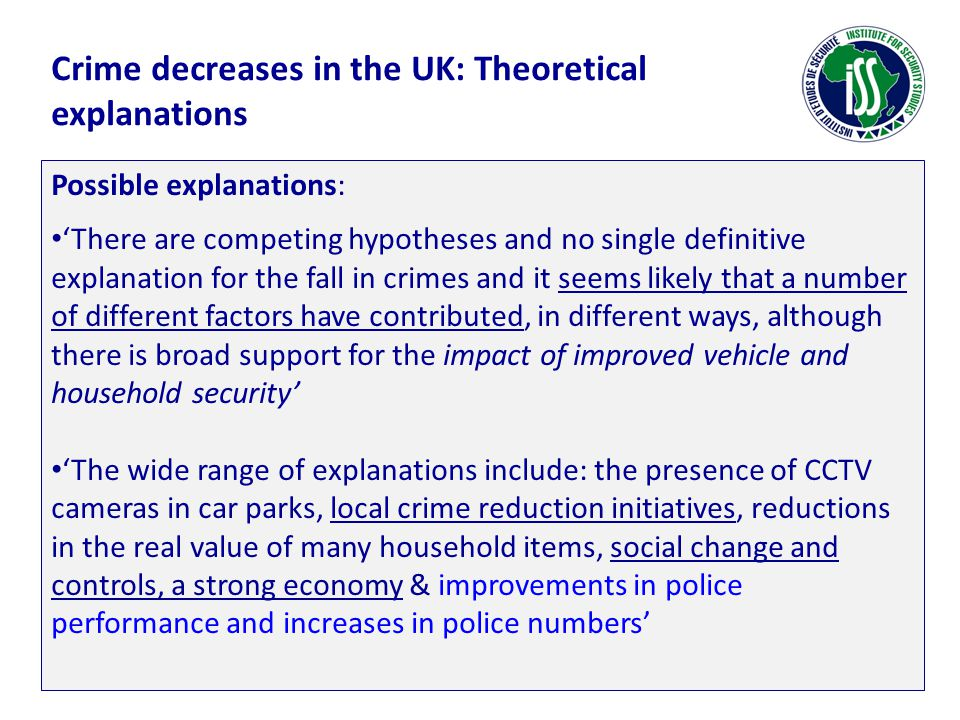 Crime decreases in the UK: Theoretical explanations