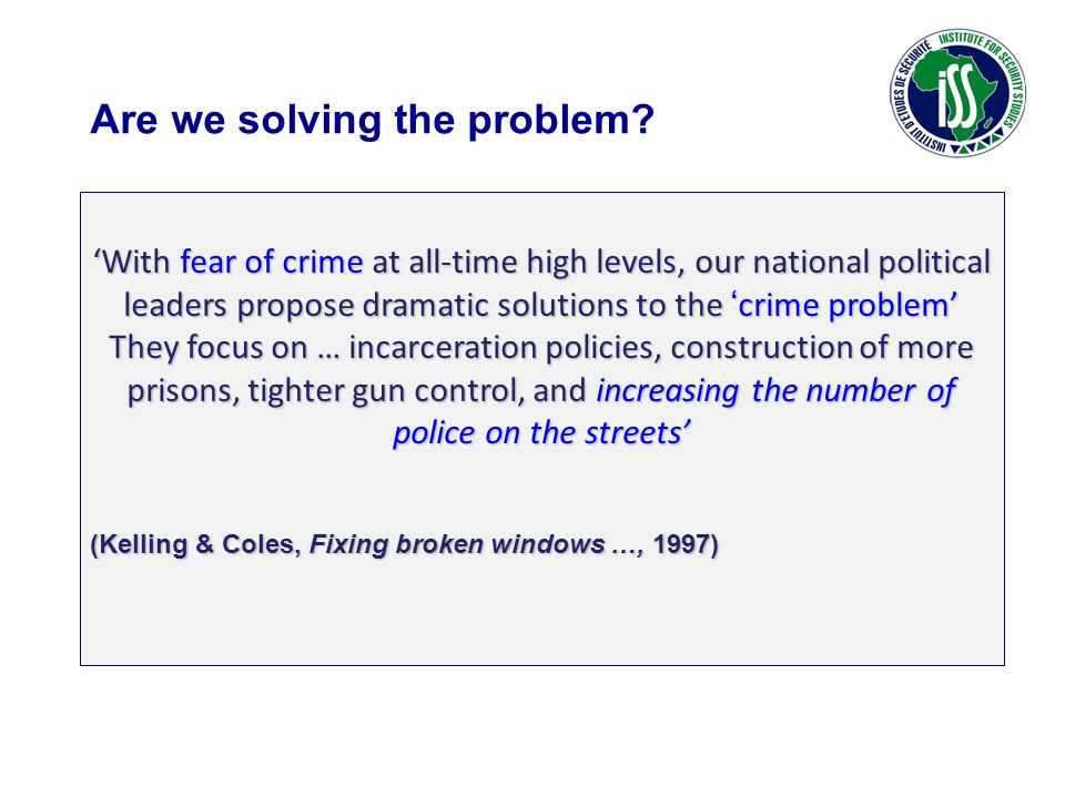 Are we solving the problem