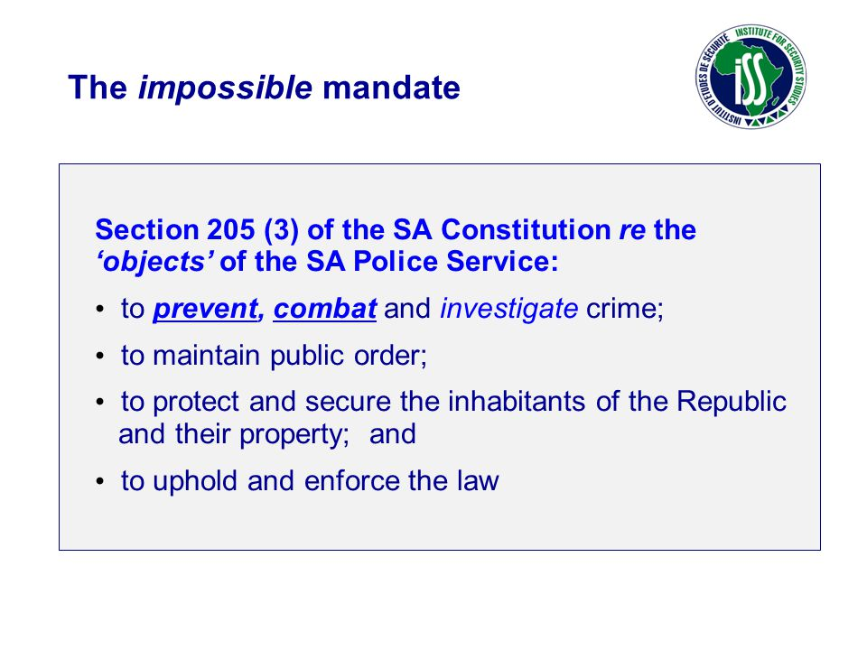 The impossible mandate