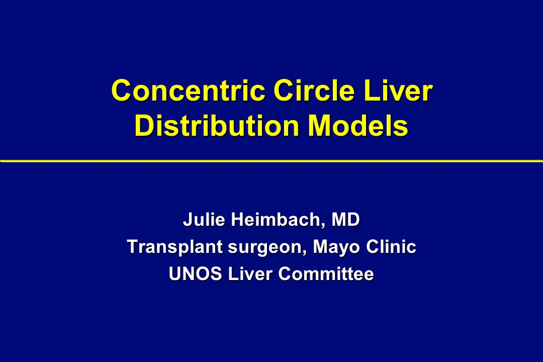Concentric Circle Liver Distribution Models